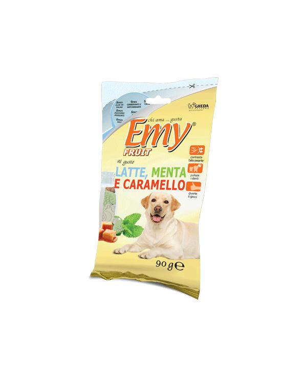 Emy Fruit Biscotti Formine Croccanti al gusto di Latte Menta e Caramello 90 gr