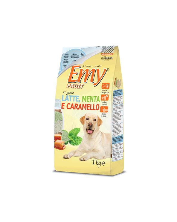 Emy Fruit Biscotti Formine Croccanti al gusto di Latte Menta e Caramello 1 kg