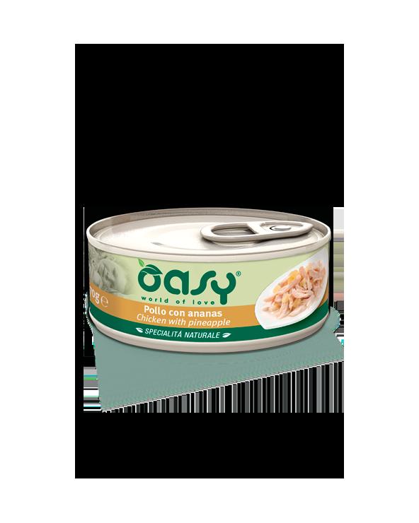 Oasy Cat Specialità Naturali Pollo con Ananas Lattina 70 g