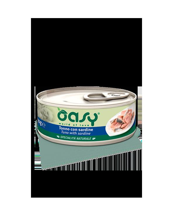 Oasy Cat Specialità Naturali Tonno con Sardine Lattina 150 g