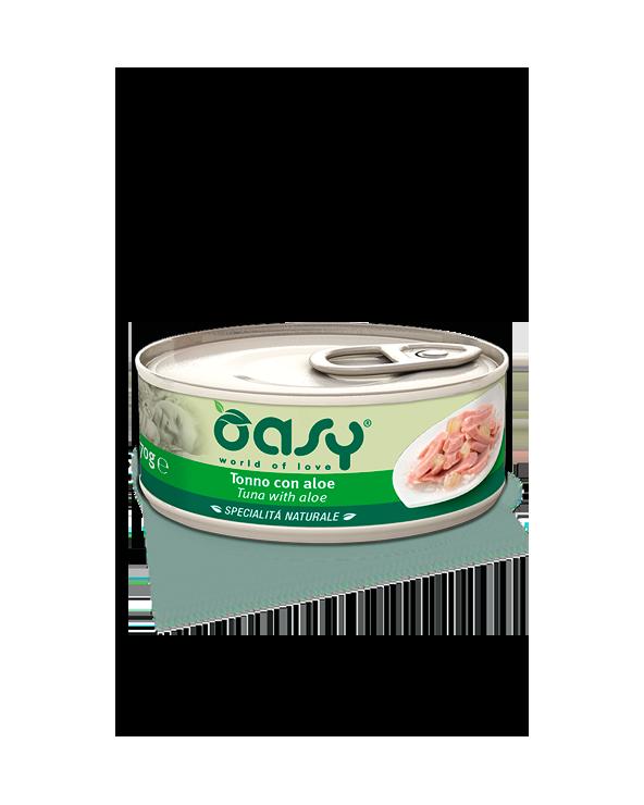 Oasy Cat Specialità Naturali Tonno con Aloe Lattina 70 g