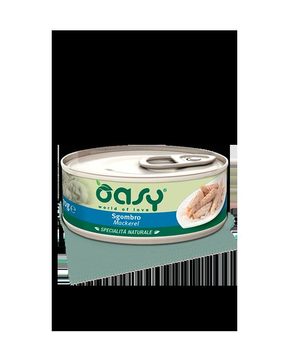 Oasy Cat Specialità Naturali Sgombro Lattina 70 g