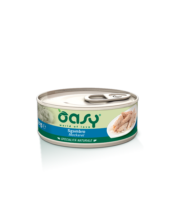 Oasy Cat Specialità Naturali Sgombro Lattina 150 g