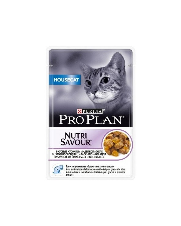 Pro Plan Cat Nutrisavour Housecat con Tacchino Bustine in Gelatina 85 g