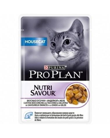 Pro Plan Cat Nutrisavour Housecat con Tacchino Bustine in Gelatina 85 g