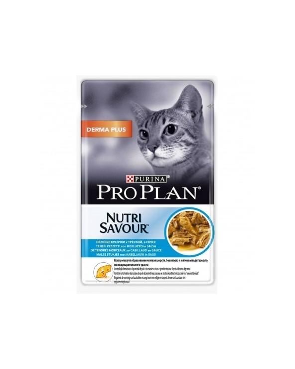 Pro Plan Cat Nutrisavour Dermaplus con Merluzzo Bustine in Salsa 85 g