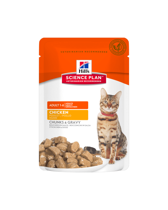 Hill's Feline Science Plan Adult Optimal Care Con Pollo Bocconcini in Salsa 85 g