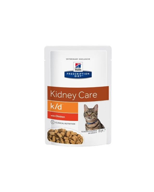 Hill's Feline Prescription Diet  K/D Con Pollo Bustine in Salsa 85 g