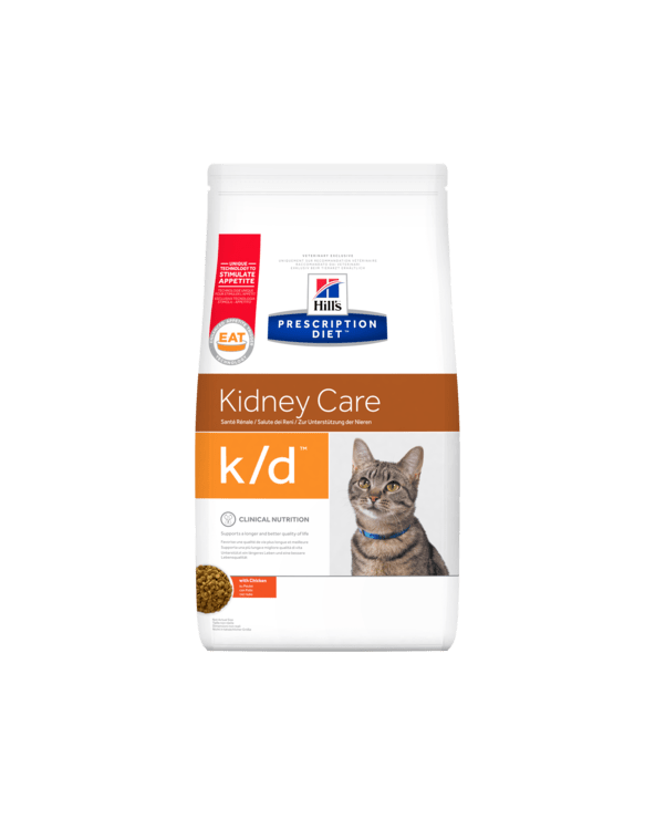 Hill's Feline Prescription Diet K/D Secco con Pollo 400 g