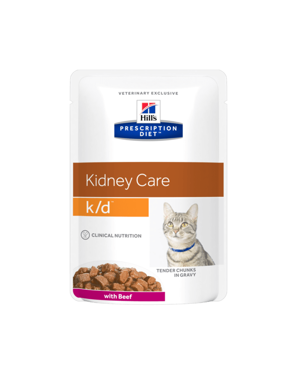Hill's Feline Prescription Diet K/D Con Manzo Bustine 85g