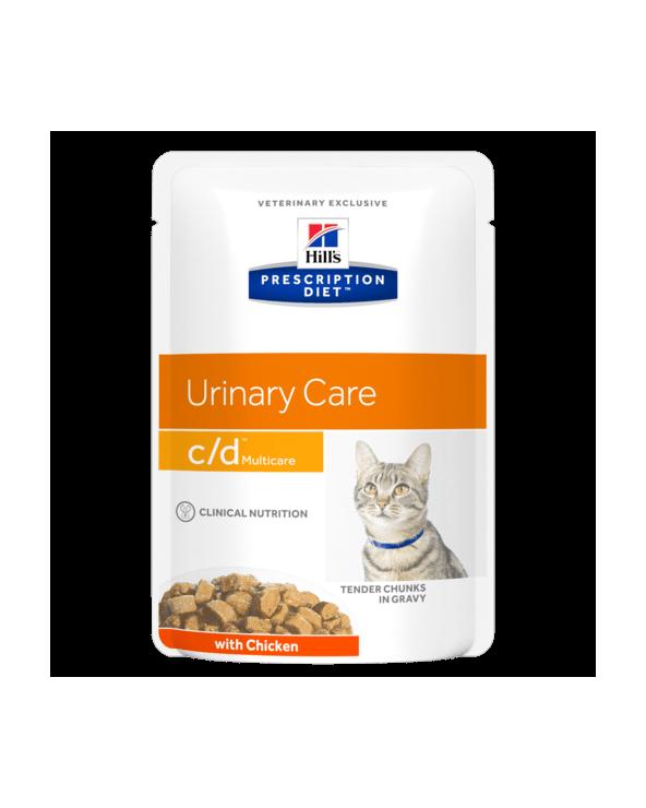 Hill's Feline Prescription Diet C/D Bocconcini in Salsa con Pollo 85 g
