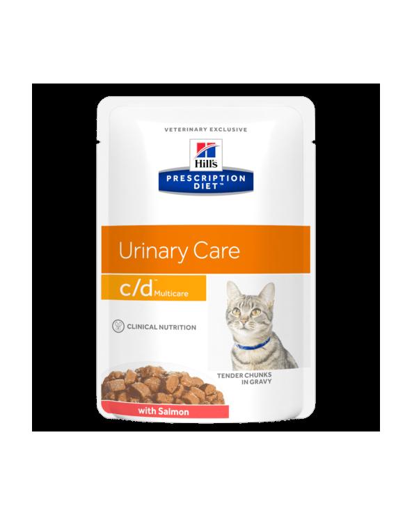 Hill's Feline Prescription Diet C/D Bocconcini in Salsa con Salmone 85 g