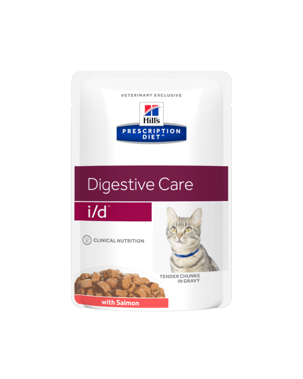Hill's Feline Prescription Diet I/D Bocconcini in Salsa con Salmone 85 g