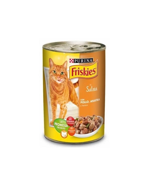 Friskies Cat Bocconcini in Salsa con Pollo Anatra e Verdure 400 g