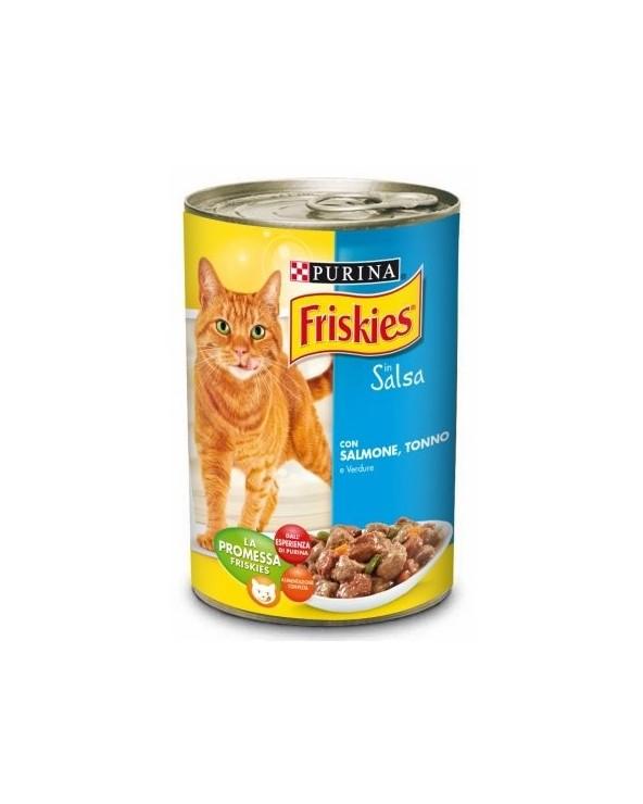 Friskies Cat Bocconcini in Salsa con Salmone Tonno e Verdure 400 g