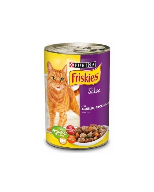 Friskies Cat Bocconcini in Salsa con Agnello Tacchino e Verdure 400 g