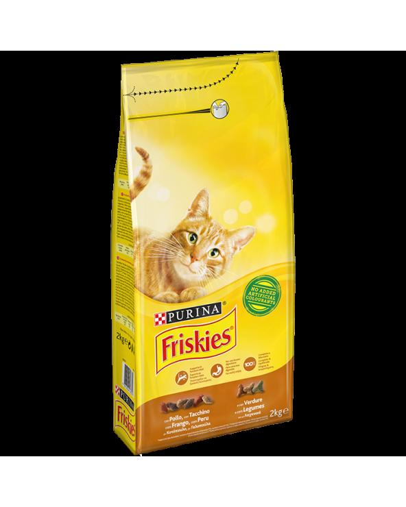 Friskies Cat Adult Pollo Tacchino e Olive 2 kg