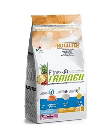 Trainer Fitness 3 Junior Medium & Maxi con Salmone Riso e Olio 12.5 kg