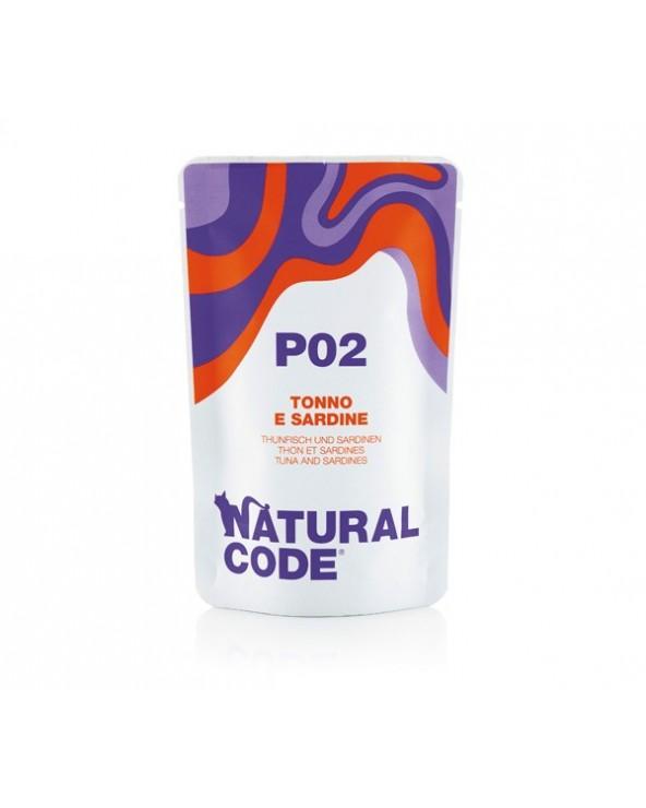 Natural Code Cat Pouches P02 Tonno e Sardine Bustina 70 g