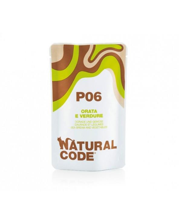 Natural Code Cat Pouches P06 Orata e Verdure Bustina 70 g