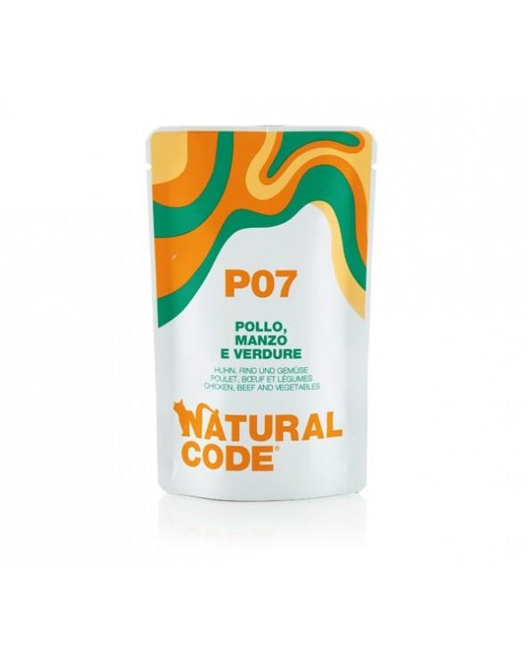 Natural Code Cat Pouches P07 Pollo Manzo e Verdure Bustina 70 g