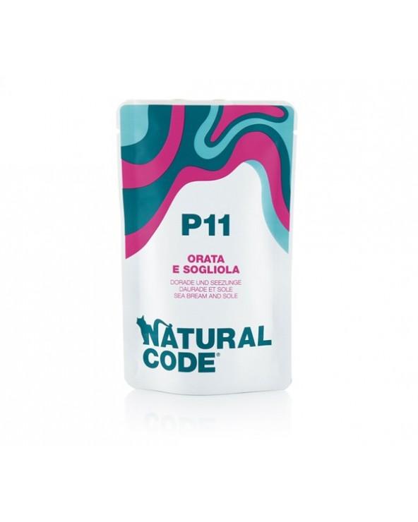 Natural Code Cat Pouches P11 Oarata e Sogliola Bustina 70 g