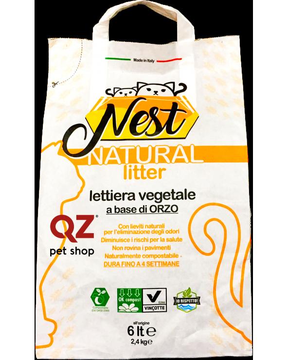 Nest Lettiera Agglomerante a base d' Orzo Naturale 6 Lt