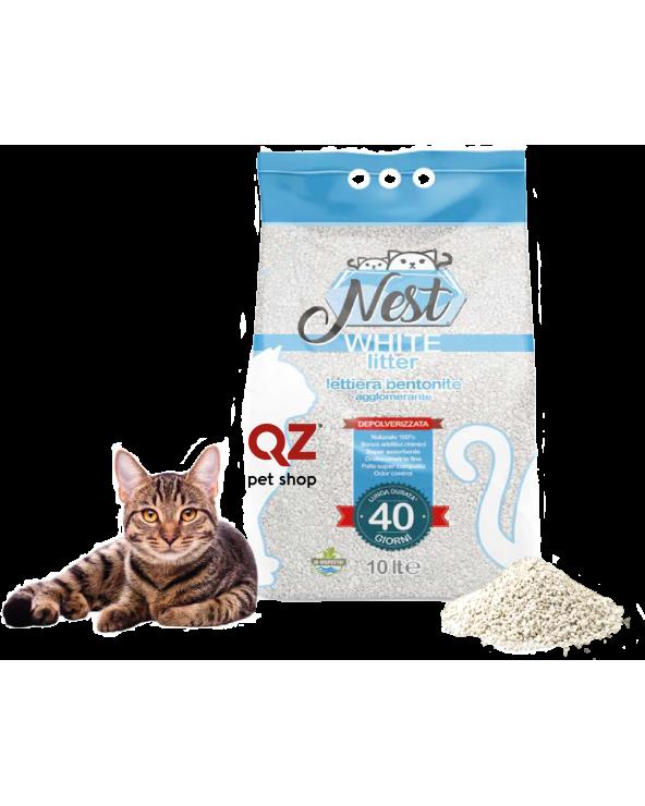 Nest White Litter Lettiera Agglomerante Depolverizzata in Bentonite 10 lt