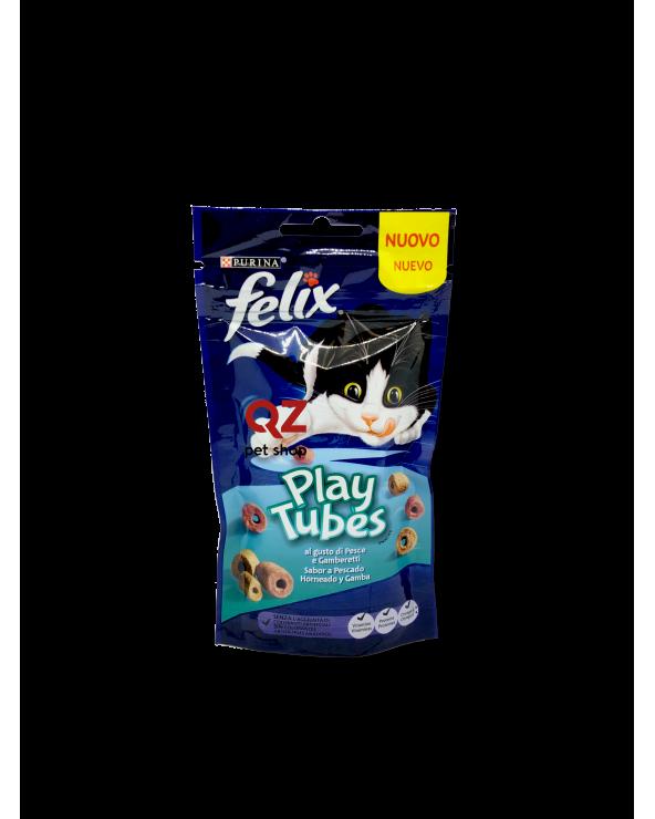 Felix Snack Play Tubes con Pesce e Gamberetti 50 g