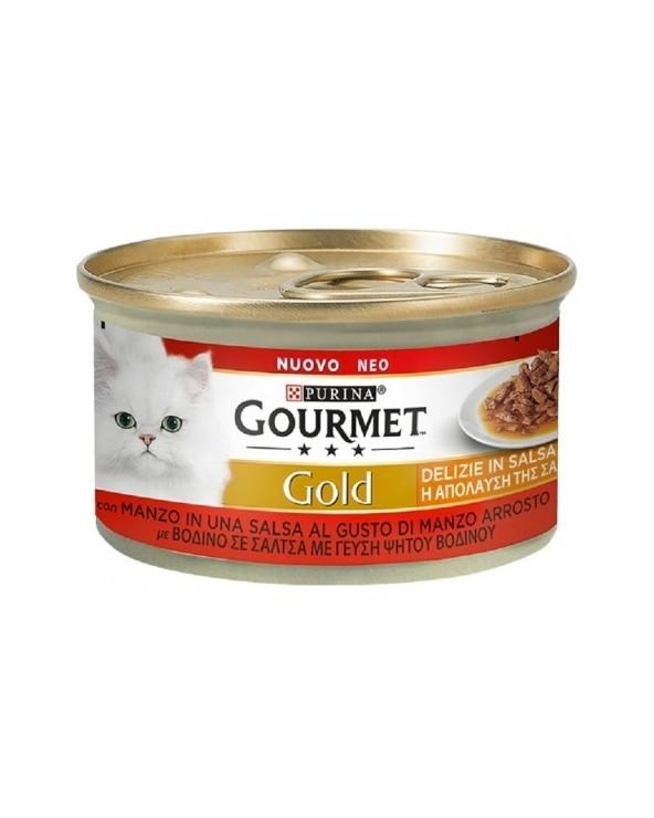 Gourmet Gold Delizie in Salsa Manzo al gusto di Manzo Arrosto 85 g
