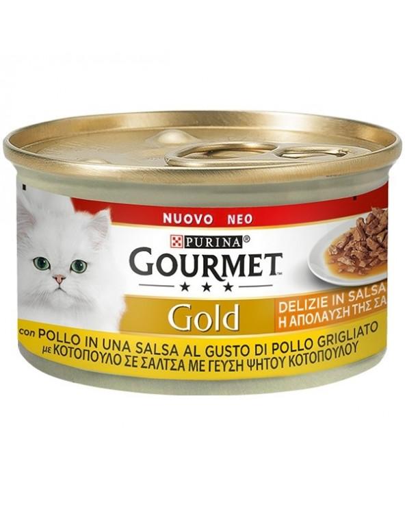 Gourmet Gold Delizie in Salsa Pollo al gusto di Pollo Grigliato 85 g