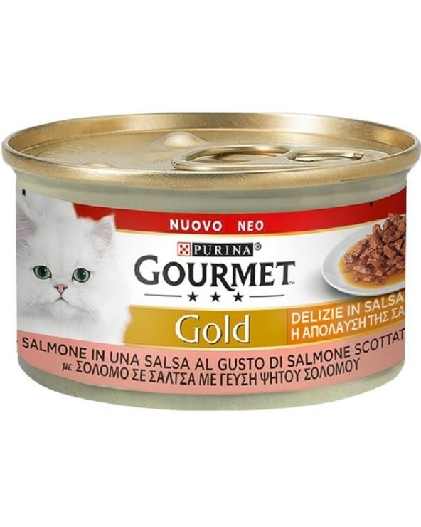 Gourmet Gold Delizie in Salsa Salmone al gusto di Salmone Scottato 85 g