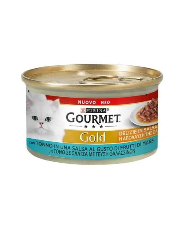 Gourmet Gold Delizie in Salsa Tonno al gusto di Frutti di Mare 85 g