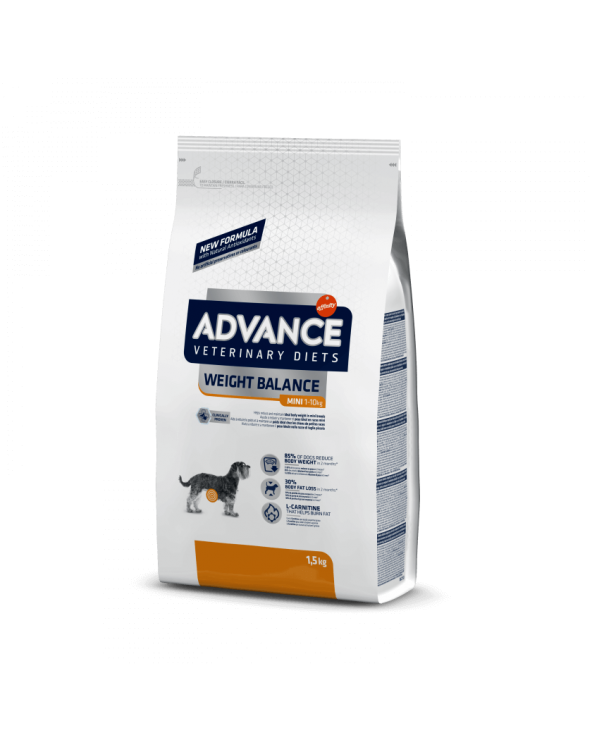 Advance Dog Veterinary Diet Weight Balance Obesity Small & Mini 1.5 kg