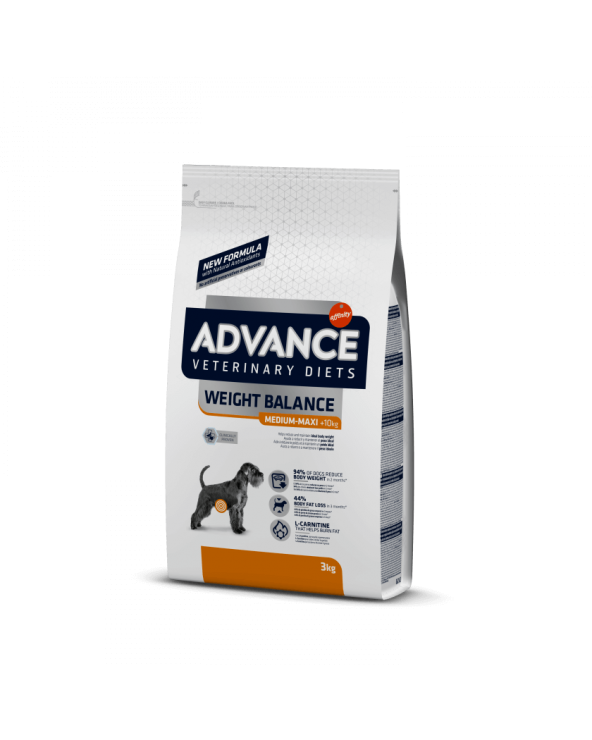 Advance Dog Veterinary Diet Weight Balance Obesity Medium & Maxi 3 kg