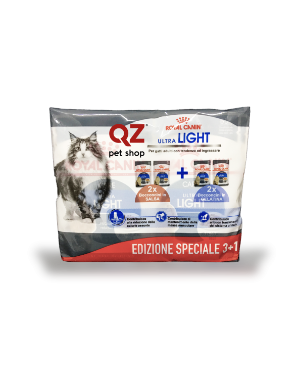 Royal Canin Feline Care Nutrition Adult Ultra Light 2 x in Salsa 2 x in Jelly Multipack 4 x 85 g