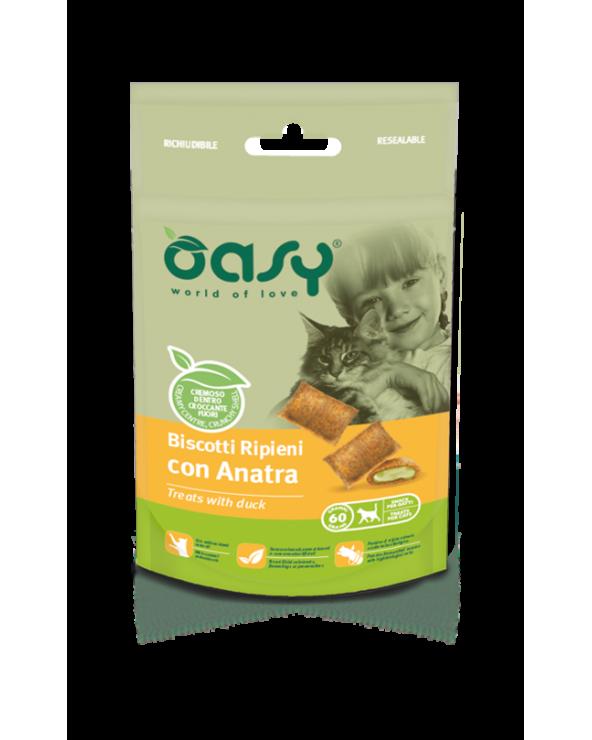 Oasy Cat Snack Biscotti Ripieni Adult con Anatra 60 g