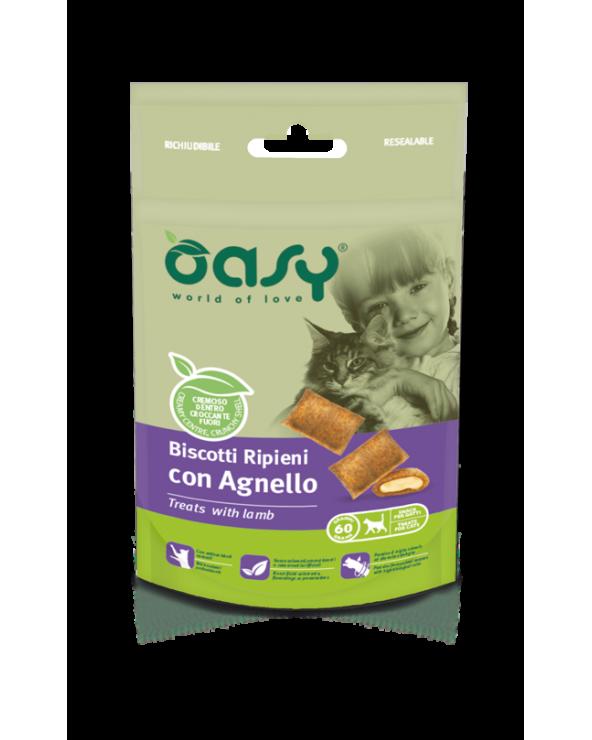 Oasy Cat Snack Biscotti Ripieni Adult con Agnello 60 g