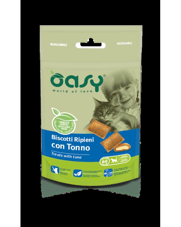 Oasy Cat Snack Biscotti Ripieni Adult con Tonno 60 g