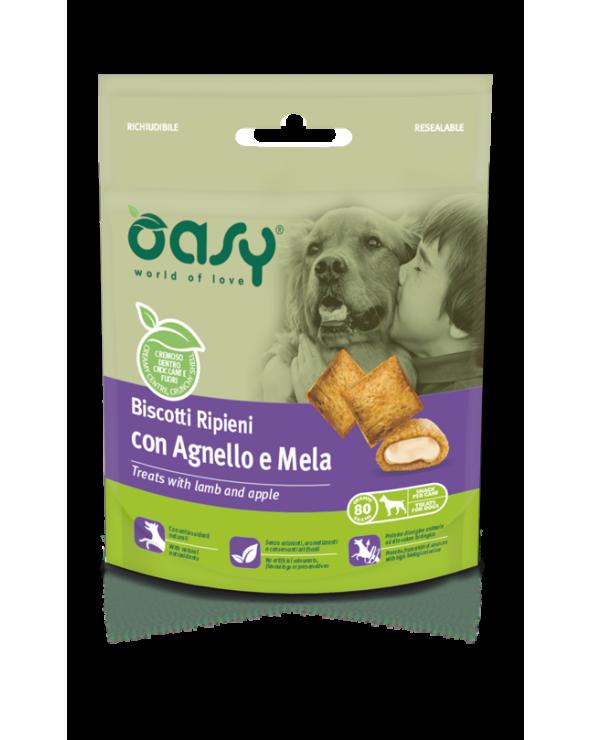 Oasy Dog Snack Biscotti Ripieni Adult con Agnello e Mela 80 g