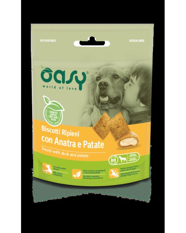 Oasy Dog Snack Biscotti Ripieni Adult con Anatra e Patate 80 g