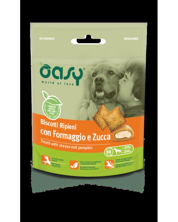 Oasy Dog Snack Biscotti Ripieni Adult con Formaggio e Zucca 80 g