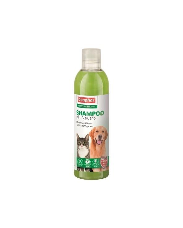 Beaphar Protezione Naturale Shampoo PH Neutro con Olio di Neem e Piretro per Cani Gatti 250 ml