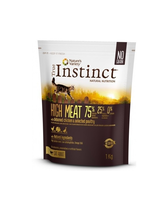 True Instinct Cat High Meats Adult con Pollo Allevato a Terra Disossato 1 kg