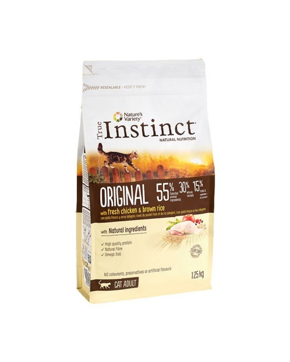 True Instinct Cat Original Adult con Pollo e Riso Integrale 1.25 Kg