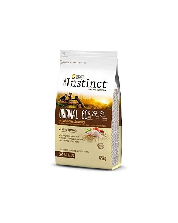 True Instinct Cat Original Kitten con Pollo e Riso Integrale 1.25 kg