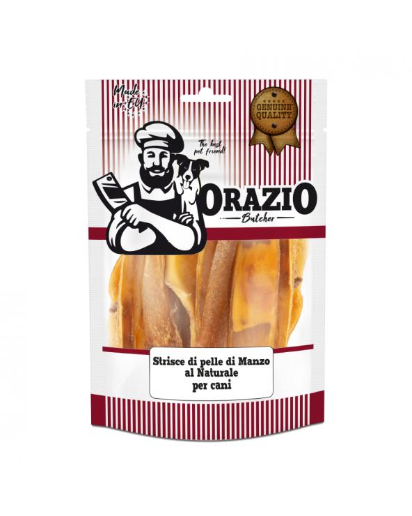 Orazio Butcher BARF Strisce di Pelle di Manzo Disidratato al Naturale 100 g