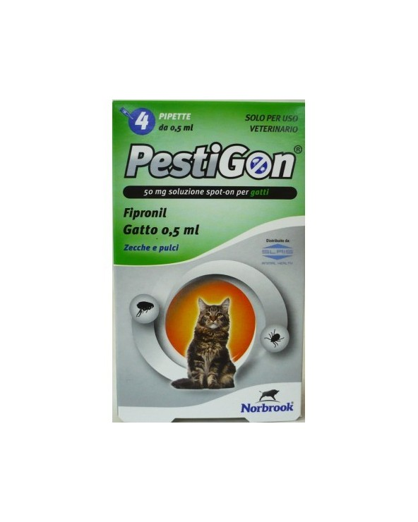Pestigon Spot-on per Gatti - 4 Fiale da 0,5 ml