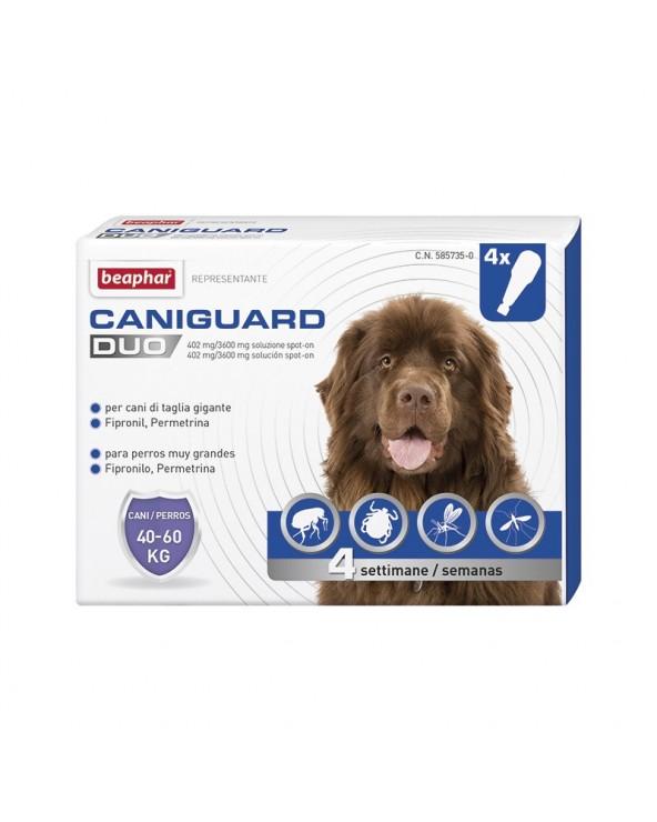 Beaphar CaniGuard Duo Antiparassitario per Cani XL da 40 kg a 60 kg - 4 Fiale / Pipette
