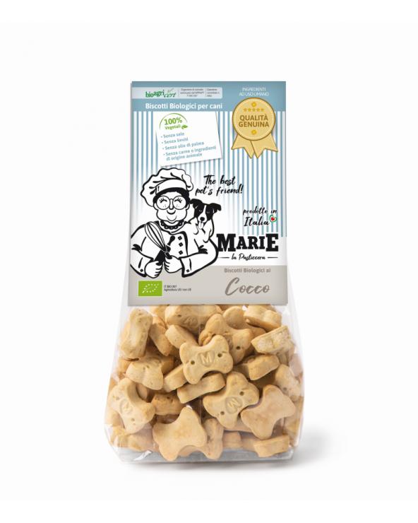 Marie La Pasticcera Biscotti Biologici per Cani con Cocco Bio 210 g